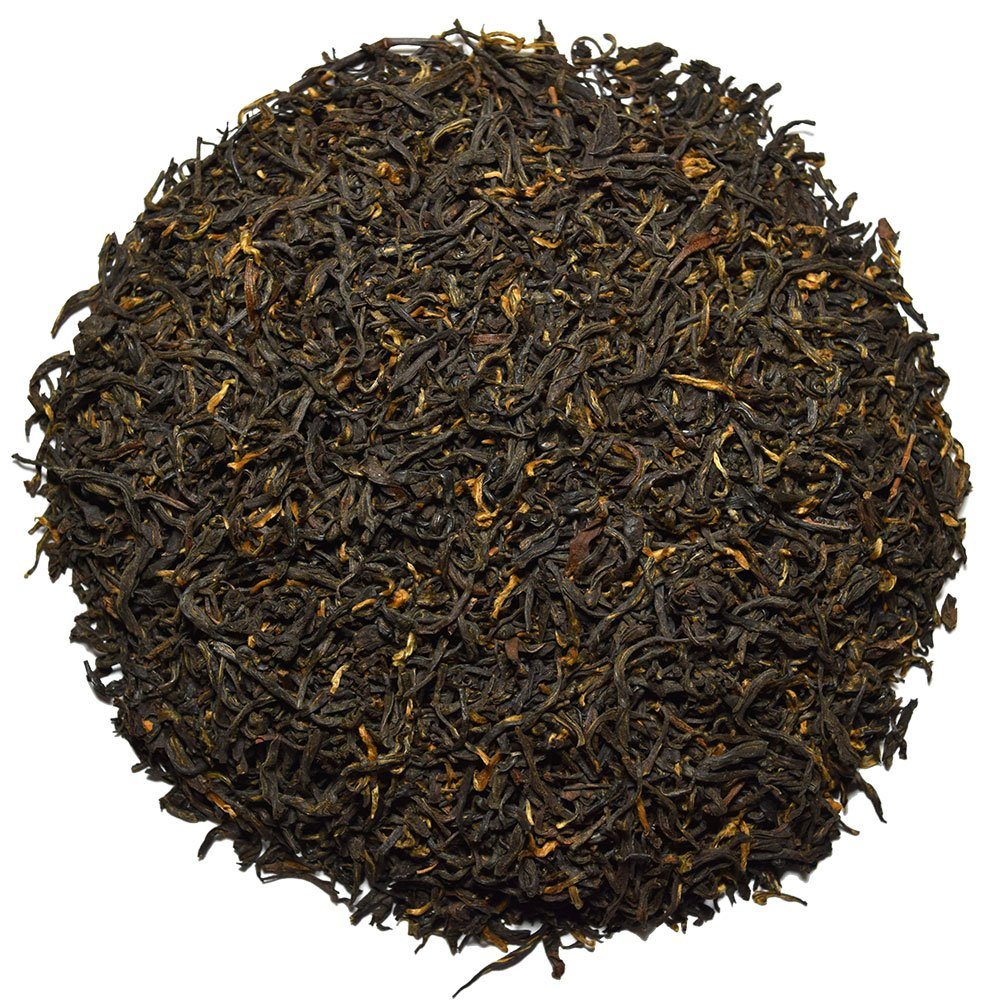 Positively Tea Company, Organic Golden Monkey, Black Tea, Loose Leaf, 1 Pound Bag