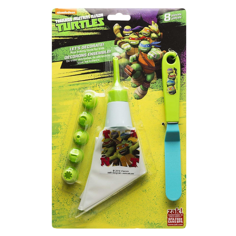Zak. Designs tntr-s090 Tortugas Ninja 8 piezas Juego de ...