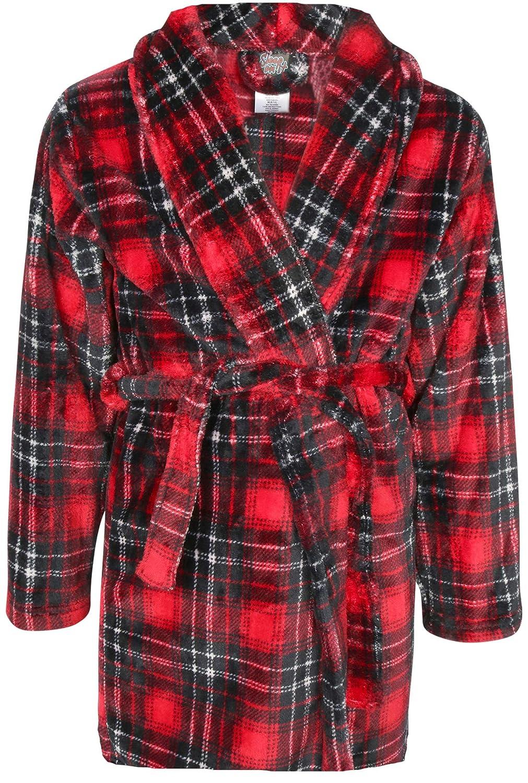 Sleep On It Boy's Coral Fleece Printed Medium Length Robe