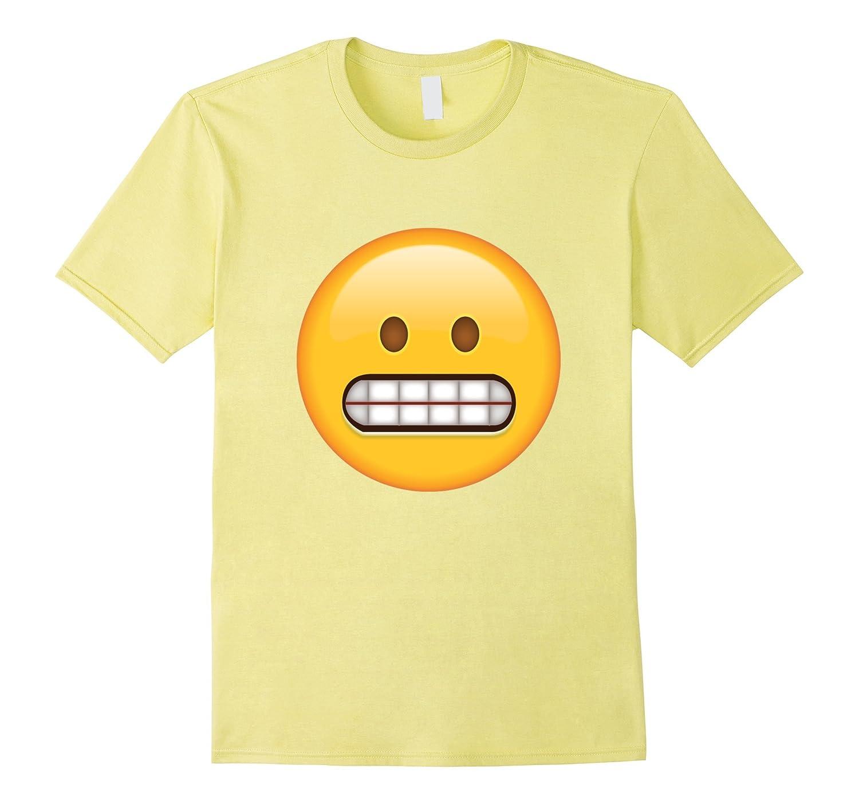 Grinning Face Nervous Emoji T Shirt-CL