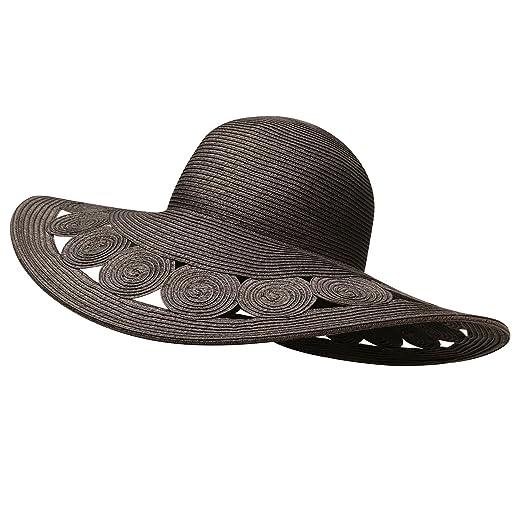 Jeanne Simmons Accessories Woman s Hat -Black Deep Brim Paper Braid ... 593348d1326