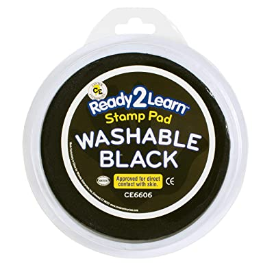 Center Enterprises Inc. Ready2Learn Circular Jumbo Washable Stamp Pad, Black: Industrial & Scientific