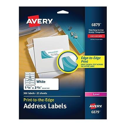 amazon com avery laser labels matte mailing 3 3 4 x 1 1 4