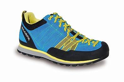 Scarpa Crux Blau-Gelb, Damen Hiking- & Approach-Schuh, Größe EU 39 - Farbe Hawaian Blue-Yellow Damen Hiking- & Approach-Schuh, Hawaian Blue - Yellow, Größe 39 - Blau-Gelb