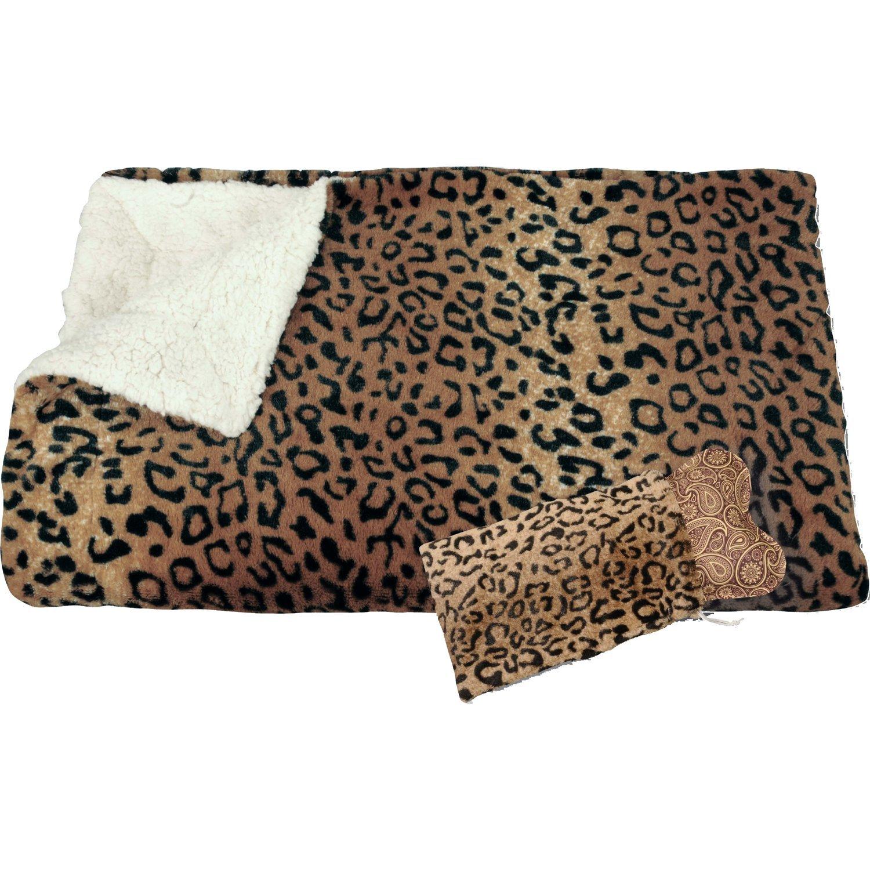 Teporino TF2G - Bolsa de agua caliente eléctrica con funda y manta, diseño de piel de jaguar: Amazon.es: Salud y cuidado personal