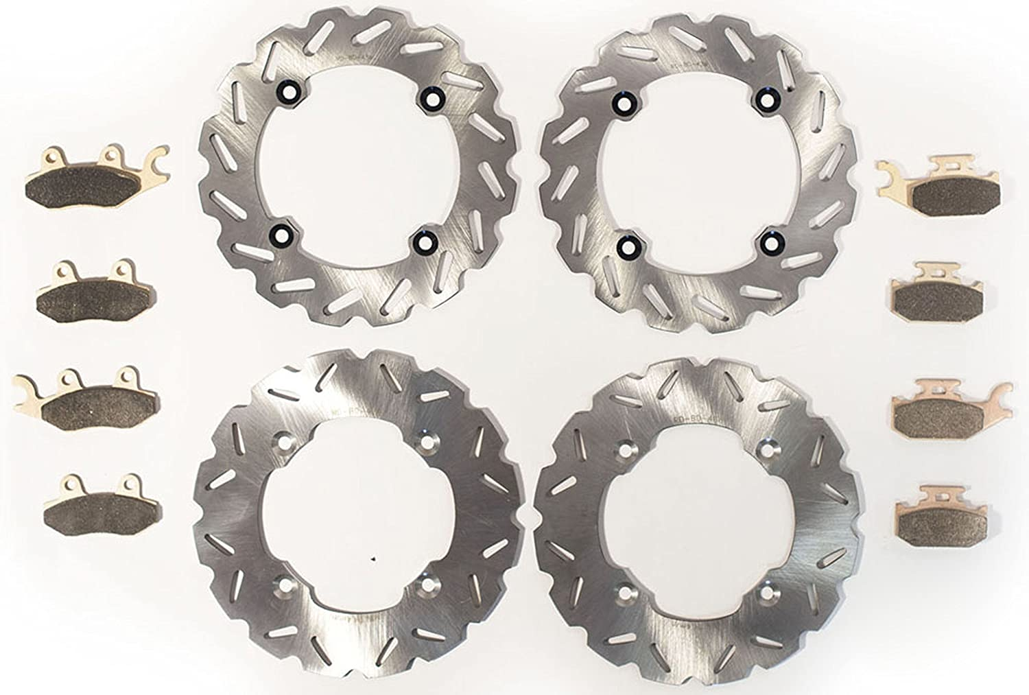 Front /& Rear RipTide Brake Rotors /& Brake Pads 2014-17 fits Can-Am Maverick XXC 1000R