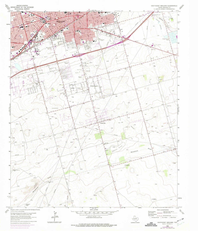 Map Of Texas Midland.Amazon Com Yellowmaps Southeast Midland Tx Topo Map 1 24000 Scale