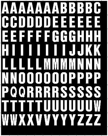 Amazoncom Stick On Vinyl Lettering Numbers Self Adhesive - Self adhesive vinyl letters