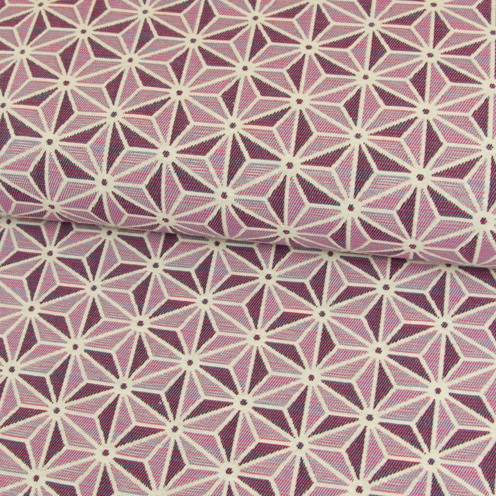 Rauten Quadrate Dreiecke Gobelin Stoff Vorhänge Polster 140cm Breit
