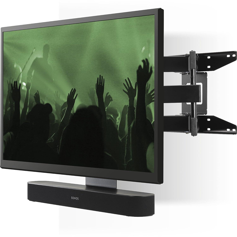 Flexson Cantilever マウント 40インチ - 65インチ TV Sonos Beam または Sonos PLAYBAR (ブラック)   B07DQ5XS4W