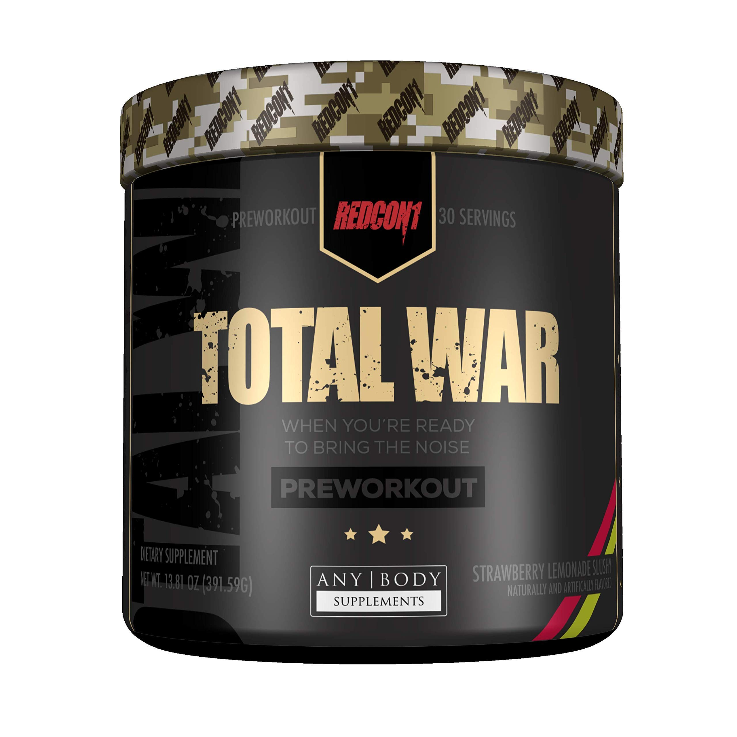 Total War - Pre Workout - 30 Servings - Newly Formulated (Strawberry Lemonade Slushy) | Limited Edition Any Body Supplements Exclusive