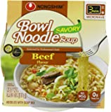 NongShim Bowl Noodle Soup, Beef, 3.03 Ounce (Pack of 12)