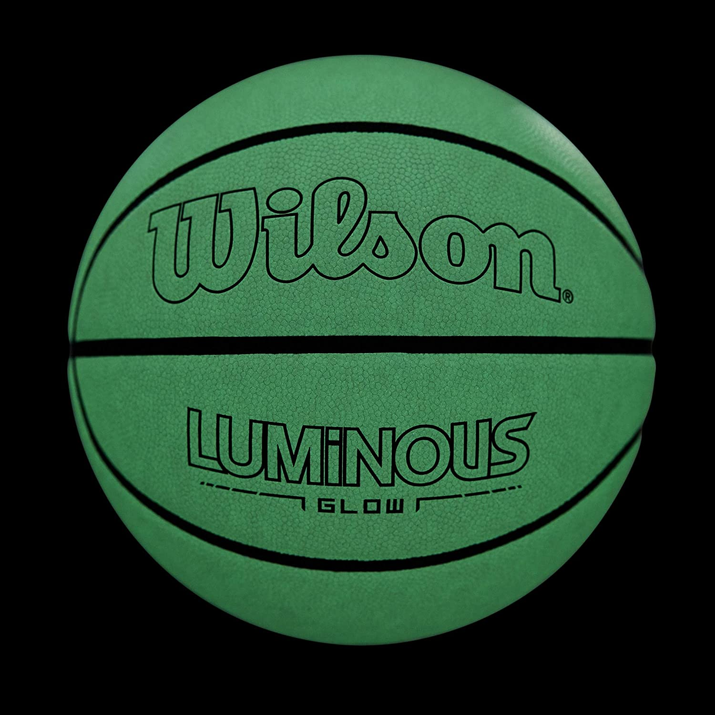 "Wilson NCAA Illuminator Glow in The Dark Premium Basketball 28.5/"" Blue//Yellow"