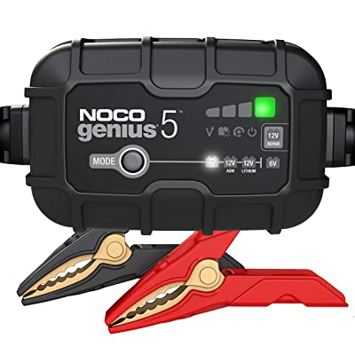 NOCO GENIUS5, 5-Amp Fully-Automatic Smart Charger, 6V And 12V Battery Charger, Battery Maintainer, And Battery Desulfator With Temperature Compensation: Automotive