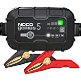 NOCO GENIUS5, 5-Amp Fully-Automatic Smart Charger, 6V And 12V Battery Charger, Battery Maintainer, And Battery…
