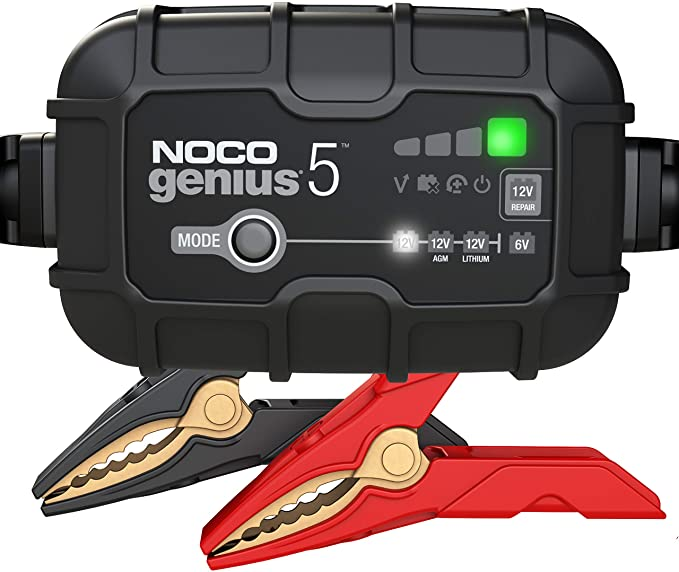 Amazon.com: NOCO GENIUS5, 5-Amp Fully-Automatic Smart Charger, 6V And 12V Battery Charger, Battery Maintainer, And Battery Desulfator With Temperature Compensation: Automotive