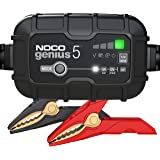 NOCO GENIUS5, 5-Amp Fully-Automatic Smart Charger, 6V And 12V Battery Charger, Battery Maintainer, Trickle Charger, And Batte