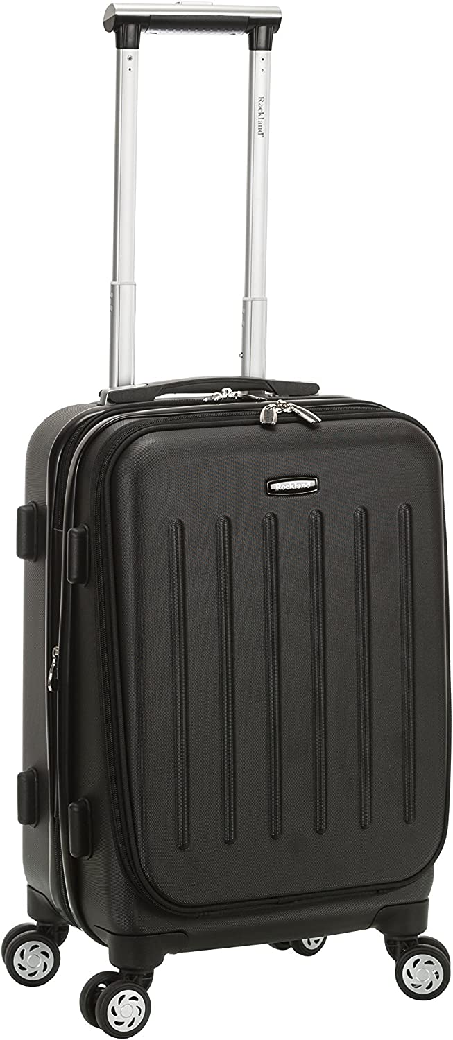 Rockland Titan Hardside Carry-On Spinner Luggage, Black, 19-Inch