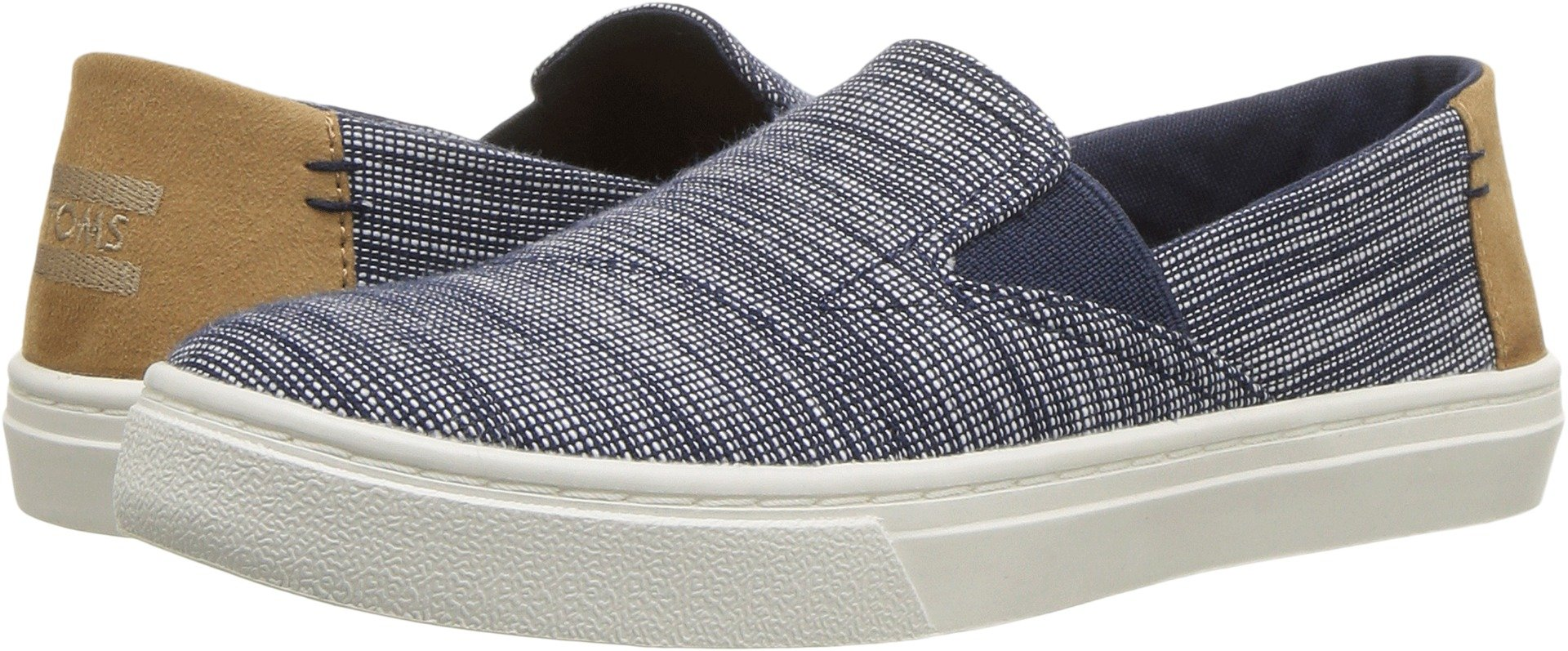 TOMS Kids Unisex Luca (Little Kid/Big Kid) Navy Striped Chambray 13 M US Little Kid by TOMS Kids (Image #1)
