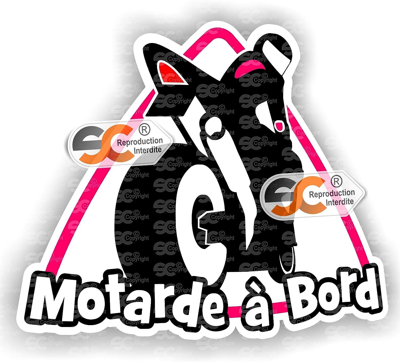 Sticker Motarde /à Bord Autocollant