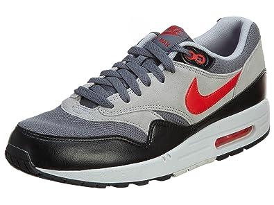 more photos 00713 c0551 Nike Men s Air Max Essential Running Shoe, Dark Grey Challenge Red Wolf Grey