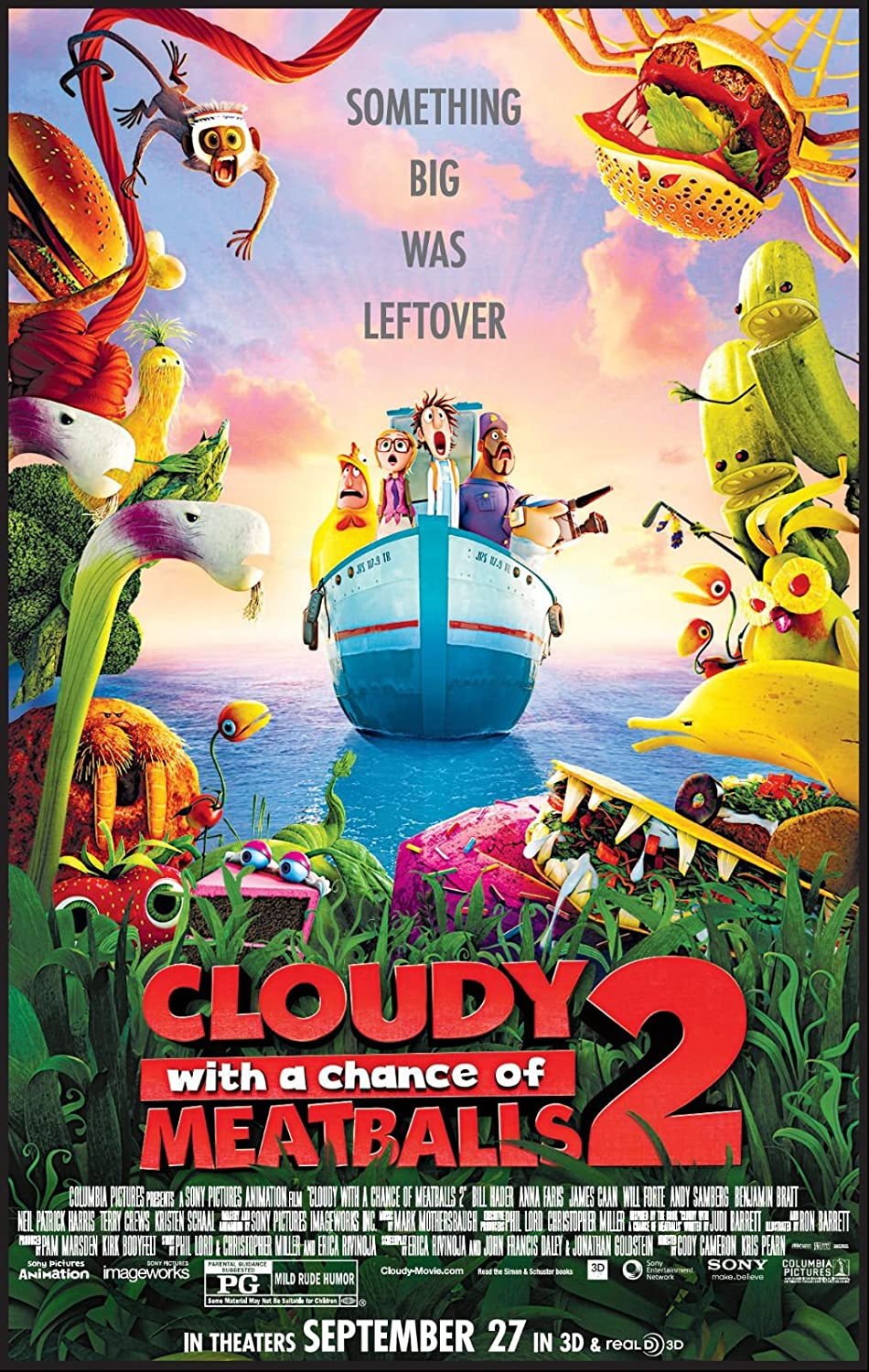 Download Cloudy With A Chance Of Meatballs 2 2013 Movie Online