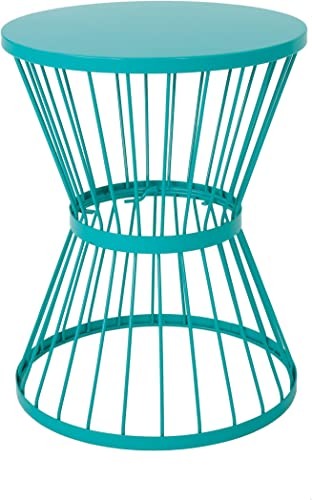 Christopher Knight Home Lassen Outdoor 16 Iron Side Table, Matte Teal