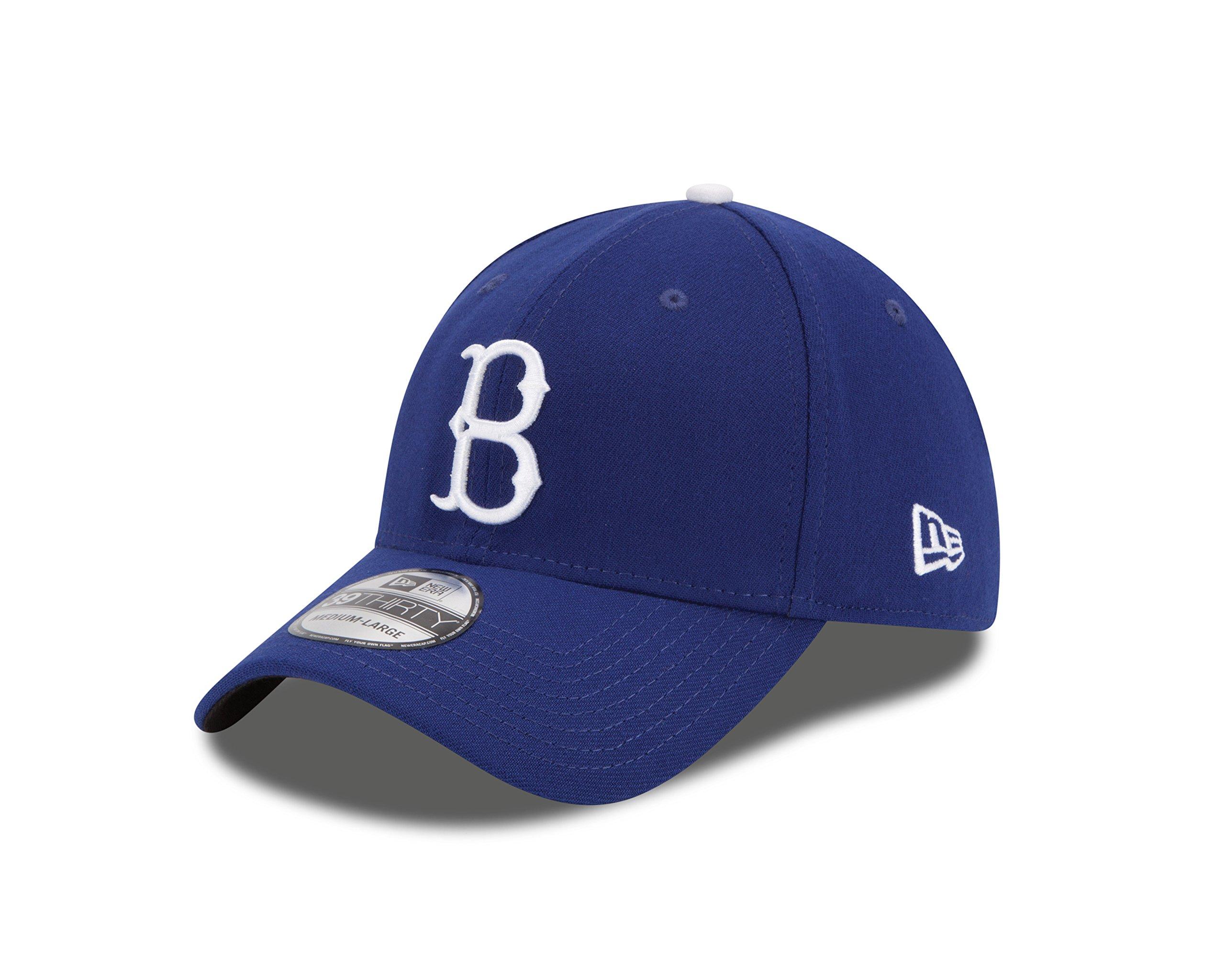 New Era MLB Brooklyn Dodgers Cooperstown Team Classic 39Thirty Stretch Fit Cap, Small/Medium, Royal