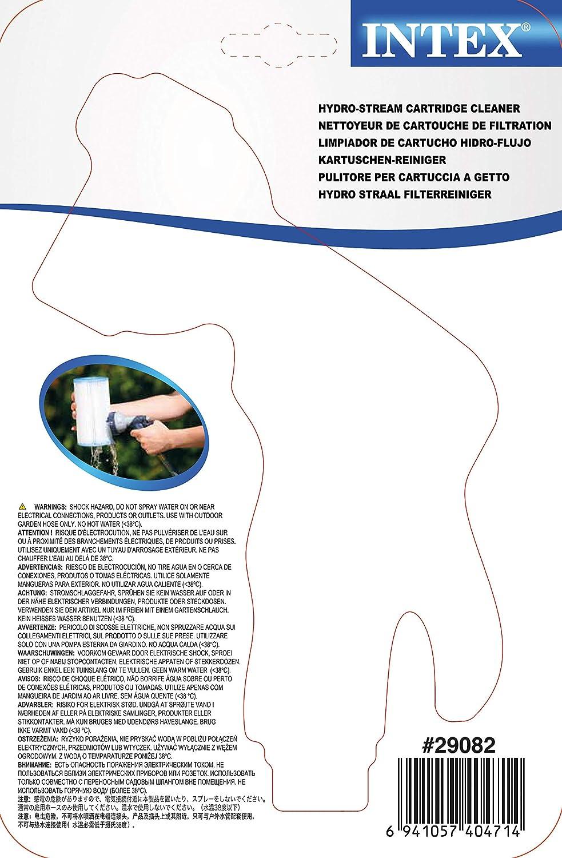 Intex 29082 - Limpiador cartuchos con 4 salidas de agua: Amazon.es ...