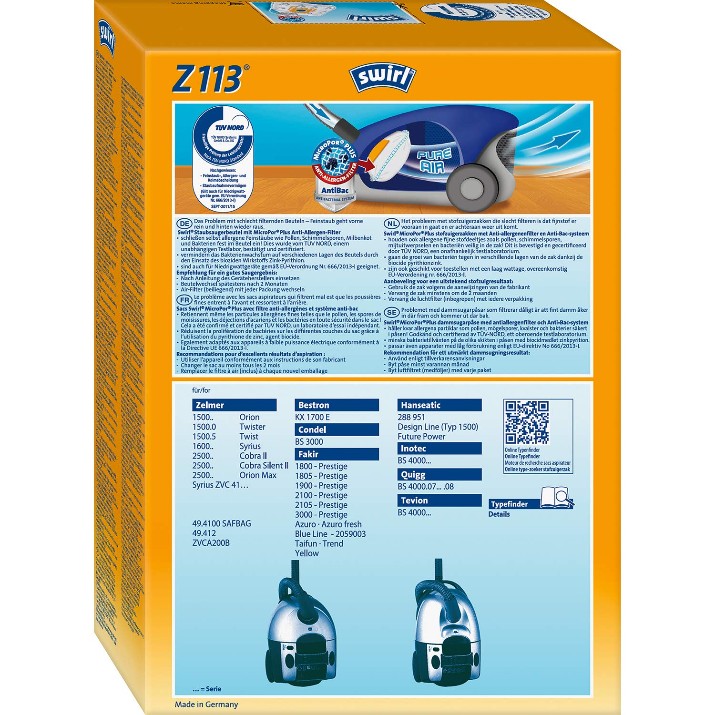 10/bolsas para aspiradoras Fakir 1805/ disba ZM 618/BD