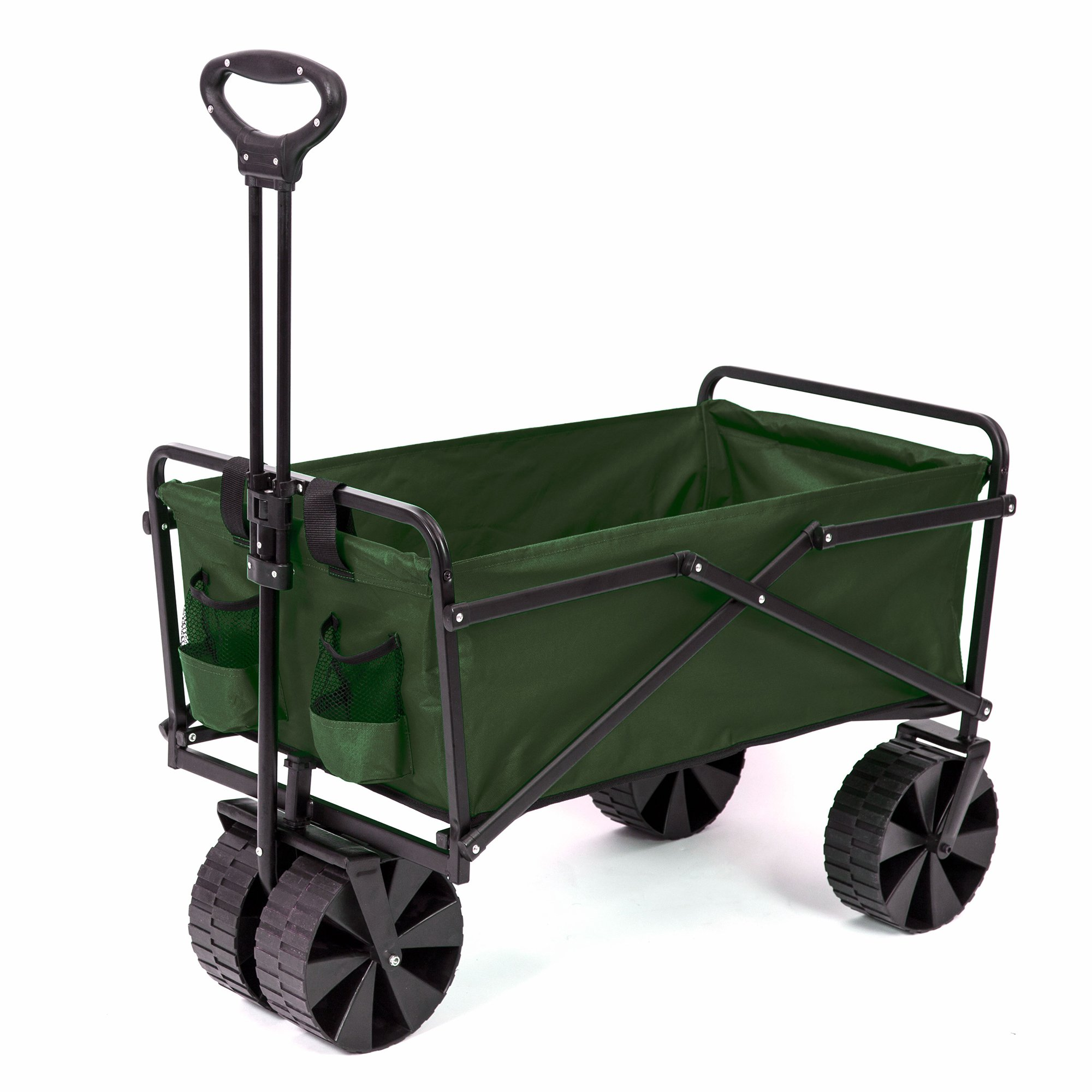 Seina Collapsible Utility Beach Wagon and Cart, Green by Seina