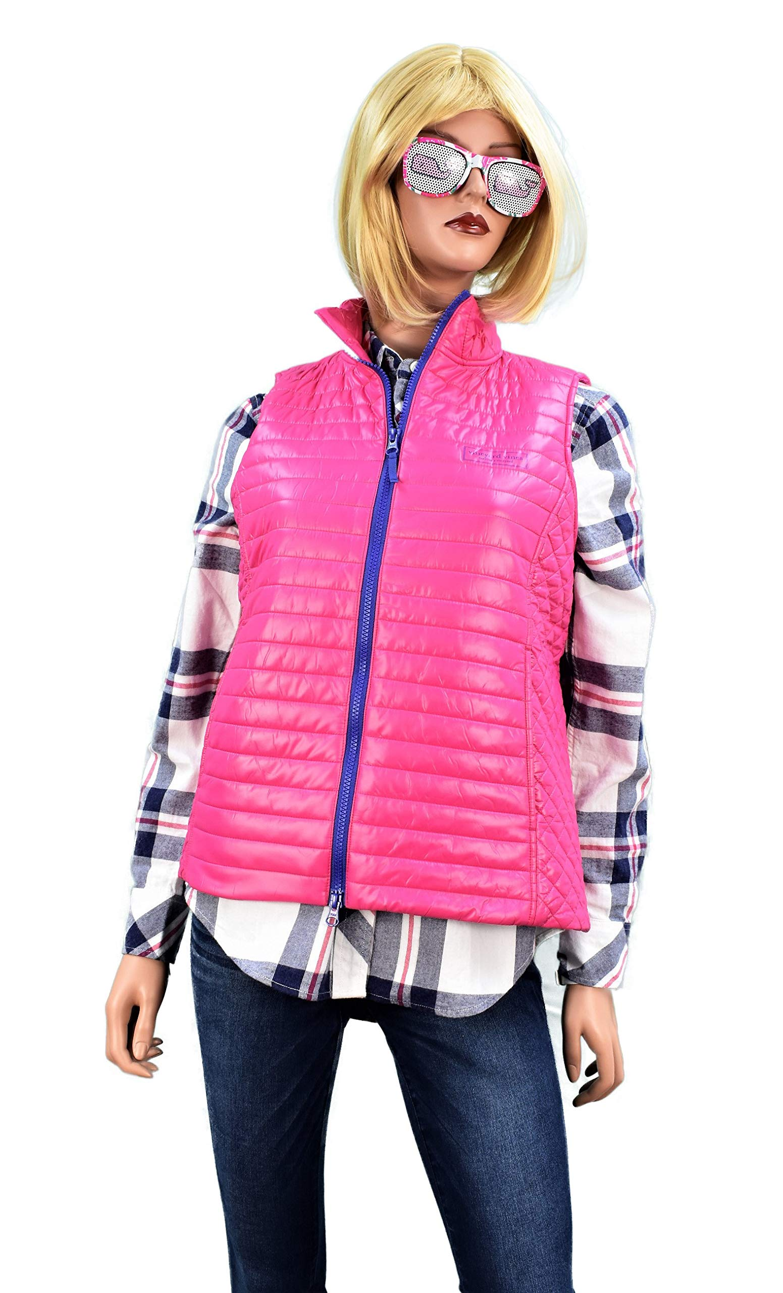 Vineyard Vines Womens Performance Puffer Vest Pink (XS)