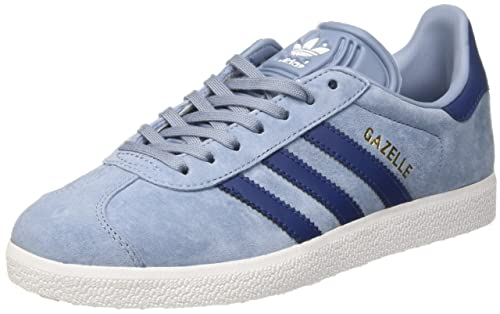 new concept 43ccb 23534 adidas Womens Gazelle Trainers, (Tactile Mystery BlueFTWR White), 3.5 UK