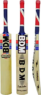 Bdm English Willow Wood Dynamic Power Super Cricket Bat With Carry Case -Choose Size