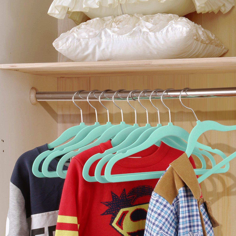 HOMFA Kinder 20er Kleiderbügel 30cm Samtkleiderbügel für Kinder ...