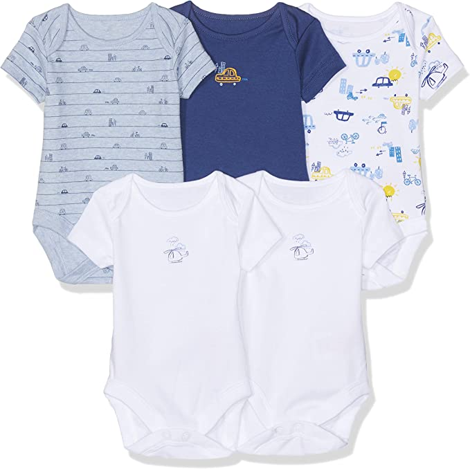 Mothercare Baby Boys 5 Pack Bodysuit