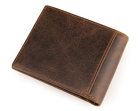 DRF Corto Billetera Monedero de piel para Hombre Vintage ...