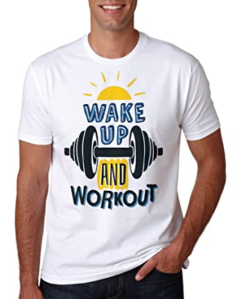 afeb408929d LuckyTshirt Gym Shirt Workout T Top Training Bodybuilding MMA Gift Fitness  Muscle Clothes Mens Motivation White  Amazon.co.uk  Clothing