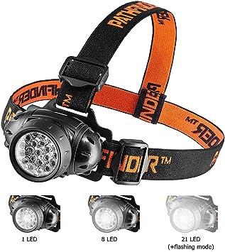 Stirnlampe 3W Neutral-Weiß COB-LED Blinken Modus Energiesparen Regulierbar