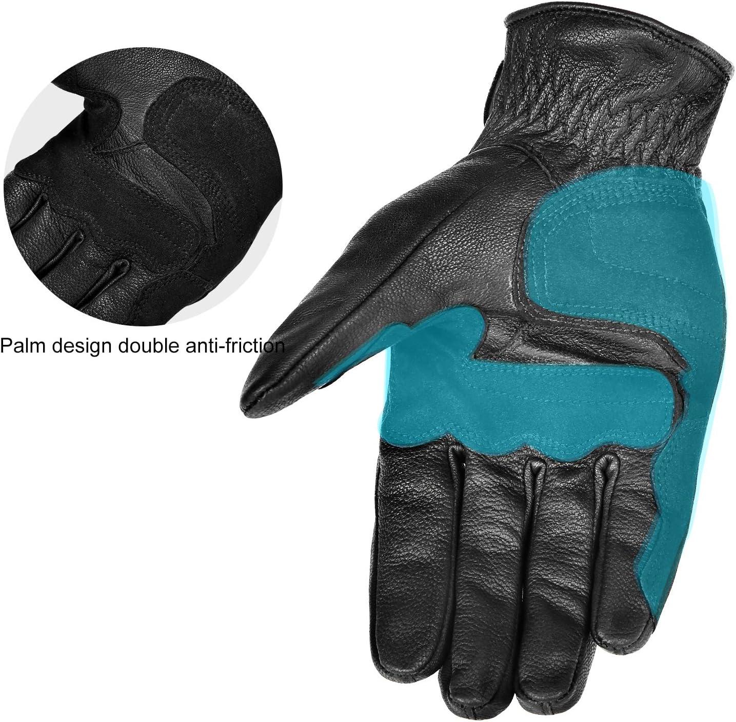 INBIKE Motorbike Gloves Mens Protection Motorcycle Leathers Black Full Finger All Season Touch Screen YKK Zipper Glove IM805