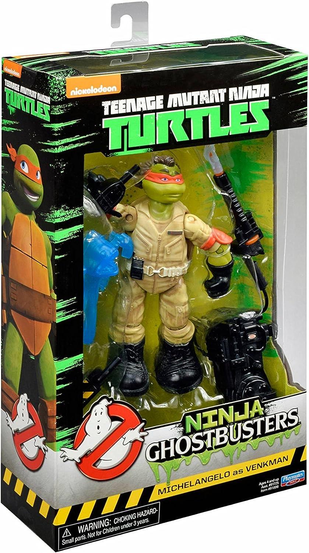 Playmates Toys Ninja Ghostbusters Teenage Mutant Ninja Turtles TMNT Michelangelo as Venkman