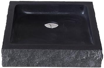 Virtu USA VST 2019 BAS Neril Vessel Sink With Natural Shanxi Black Granite