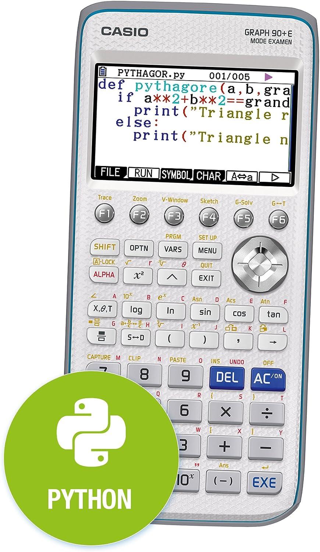 Casio Graph 90 E Calculatrice Graphique Avec Python Amazon Fr Fournitures De Bureau