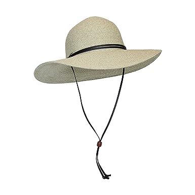2b875fc0f854e Beige Packable Cotton Fabric Sun Hat