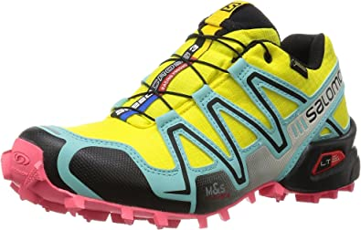 Salomon Speedcross 3 GTX, Zapatillas de Trail Running para Mujer, Amarillo (Citrus-X/Bubble Blue/Madder Pink), 40 EU: Amazon.es: Zapatos y complementos