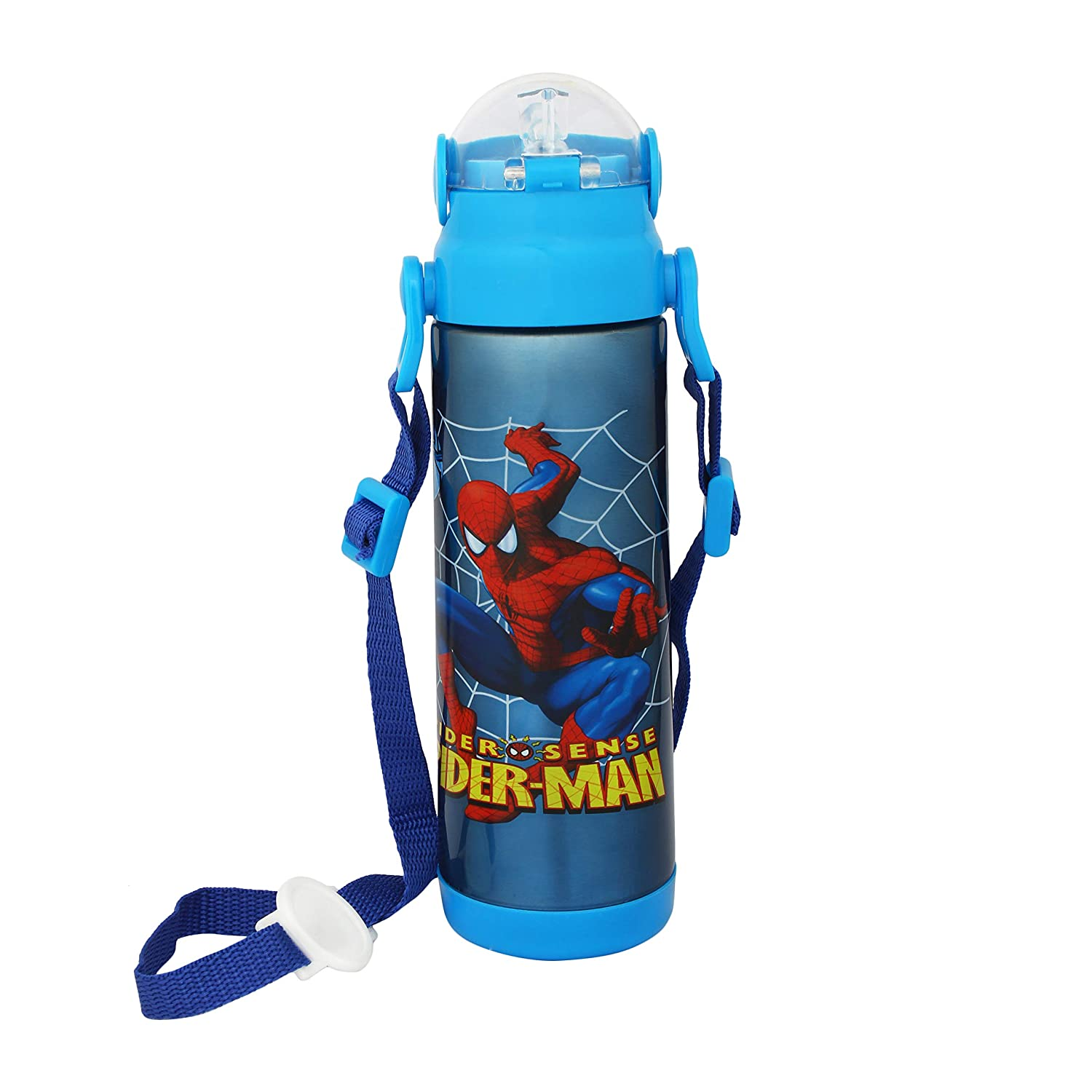 Buy Onlineworld Kid S Cartoon Printed Stainless Steel Bpa Free Sipper Water Bottle For School Flask Insulated Bottle Blue 500 Ml Online At Low Prices In India Amazon In