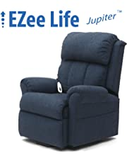 EZee Life Lift Chair Recliner - Single Motor - Jupiter Blue