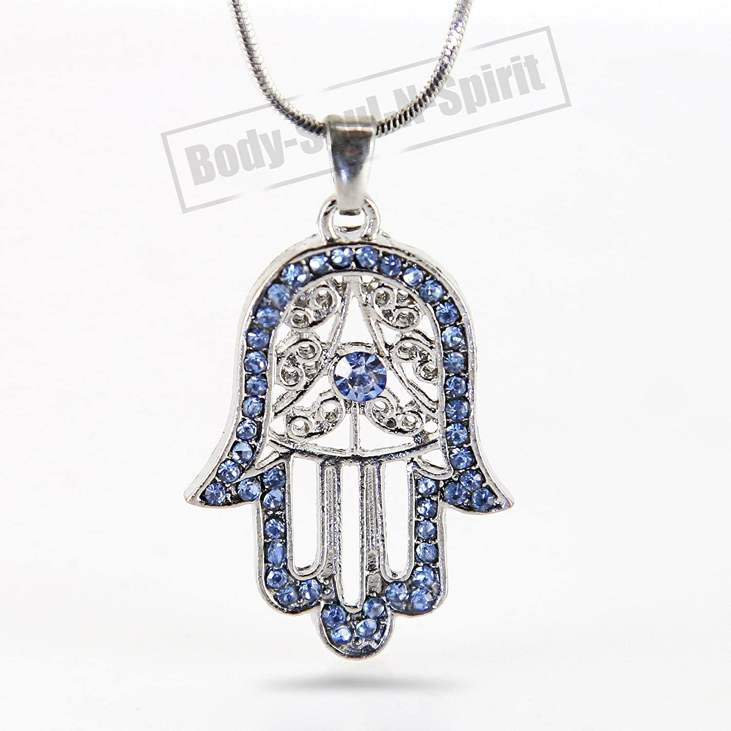 Amazon hamsa hand necklace evil eye jewelry for success and amazon hamsa hand necklace evil eye jewelry for success and protection beauty mozeypictures Image collections