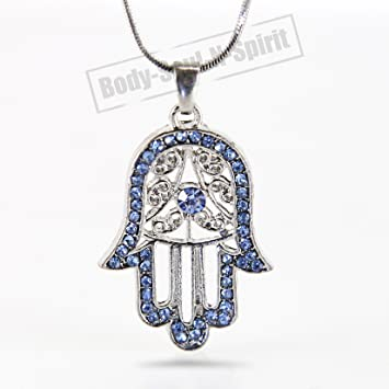 ebay fine itm necklace gold sparkling hand white hamsa rose