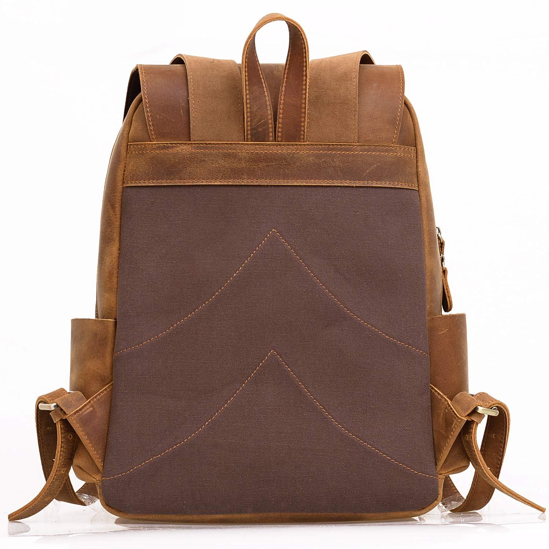 Jack & Chris Leather Laptop Backpack